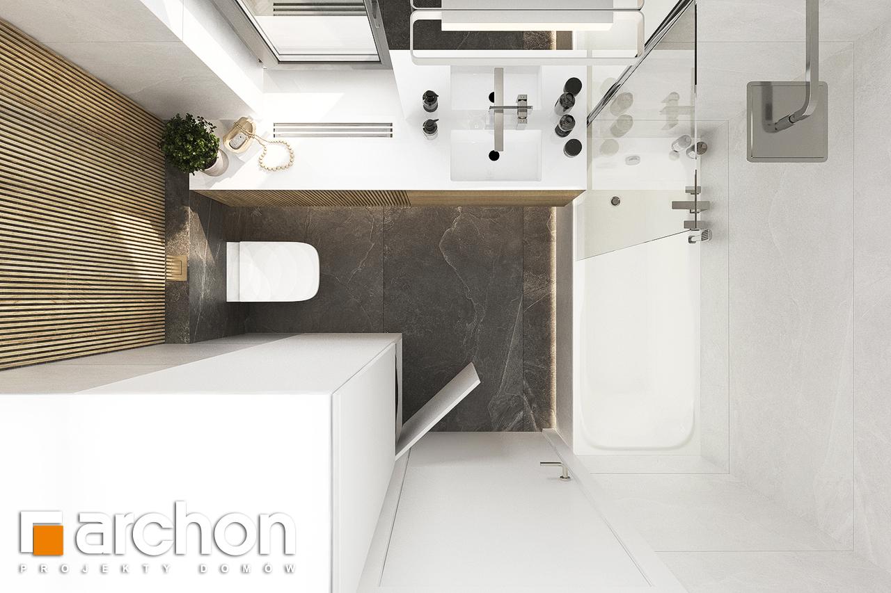 Проект будинку ARCHON+ Будинок в коручках візуалізація ванни (візуалізація 3 від 5)