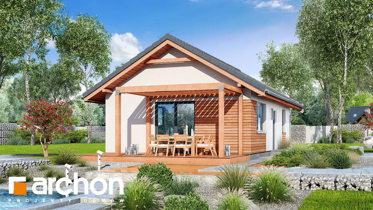Проект будинку ARCHON+ Будинок в коручках Вид 2