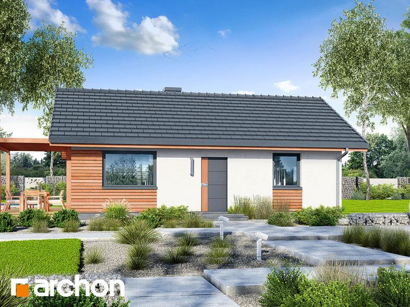 Проект будинку ARCHON+ Будинок в коручках Вид 1
