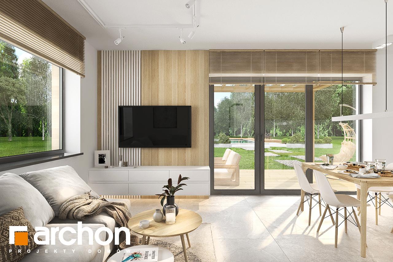 Проект будинку ARCHON+ Будинок в коручках денна зона (візуалізація 1 від 1)