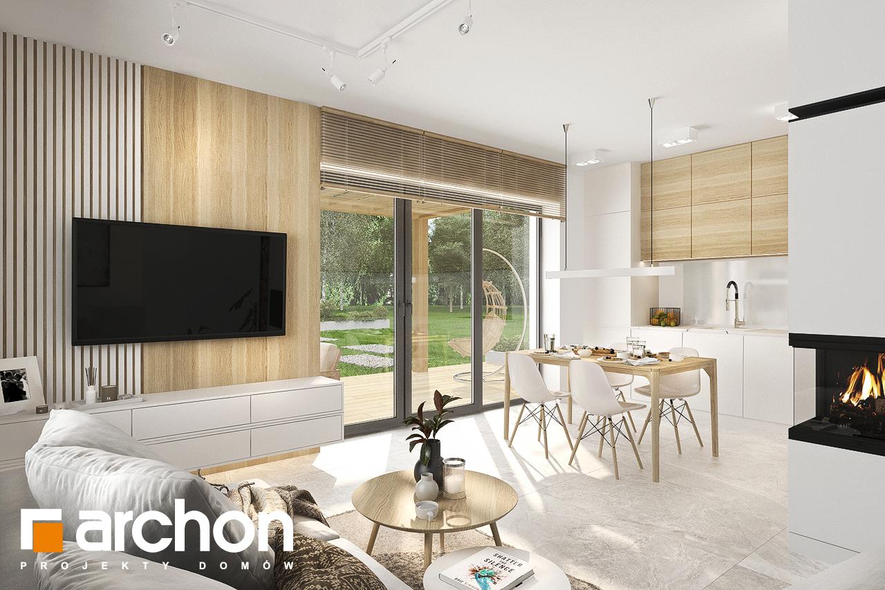 Проект будинку ARCHON+ Будинок в коручках денна зона (візуалізація 1 від 2)