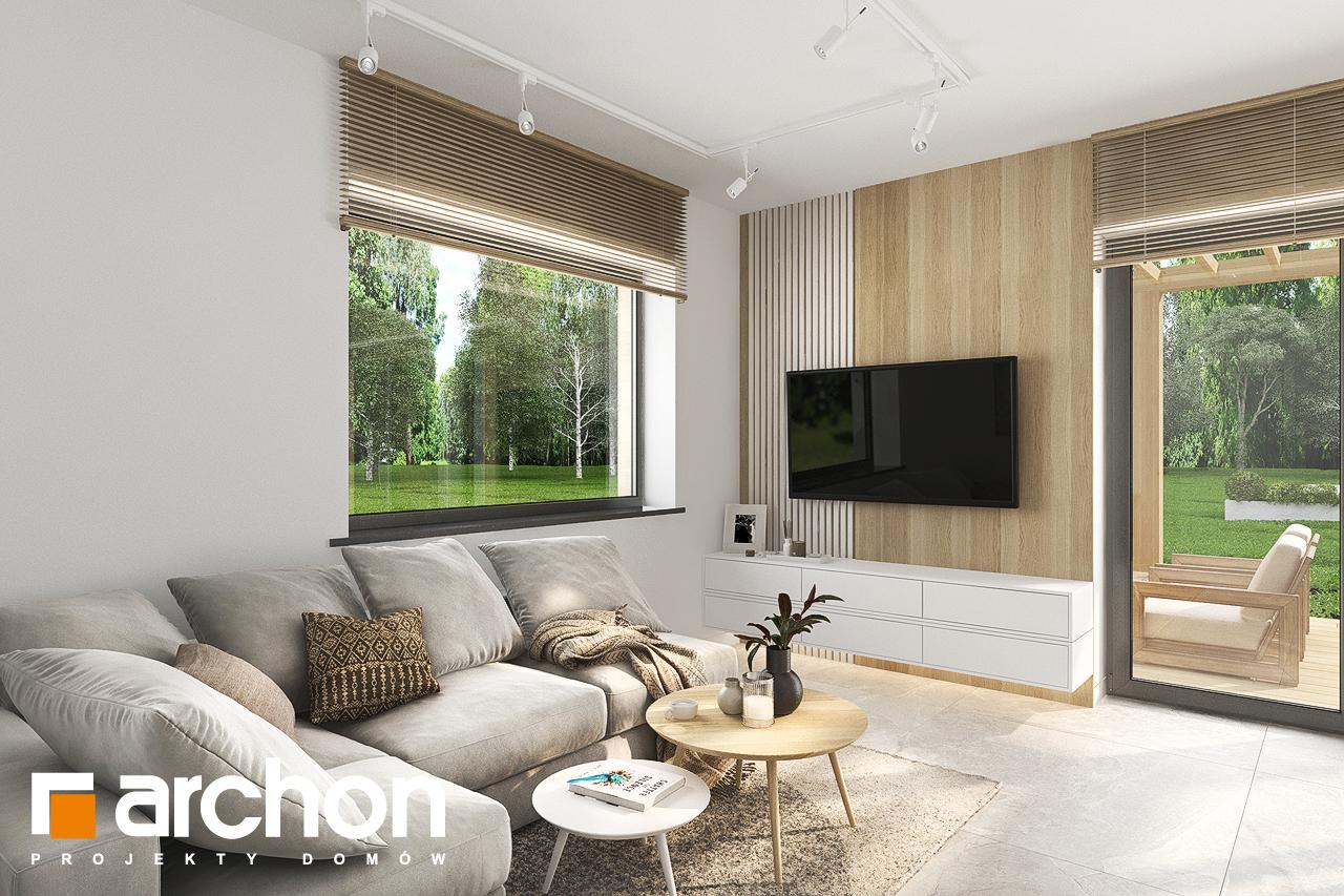 Проект будинку ARCHON+ Будинок в коручках денна зона (візуалізація 1 від 3)