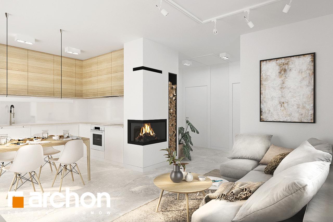 Проект будинку ARCHON+ Будинок в коручках денна зона (візуалізація 1 від 4)