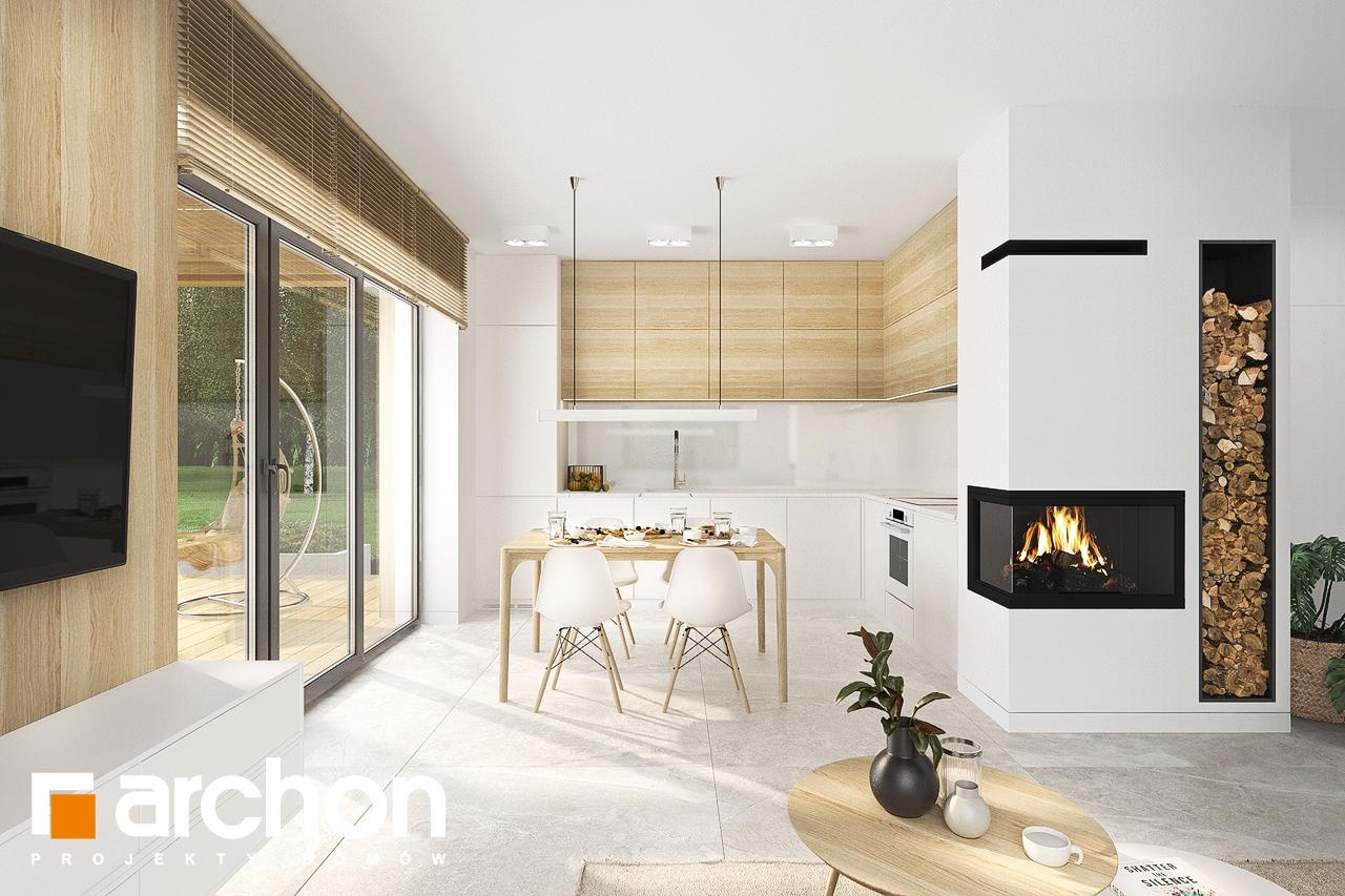 Проект будинку ARCHON+ Будинок в коручках денна зона (візуалізація 1 від 5)