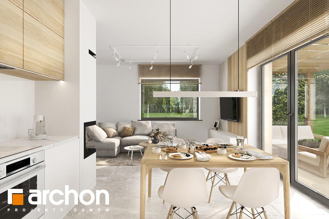 Проект будинку ARCHON+ Будинок в коручках денна зона (візуалізація 1 від 6)