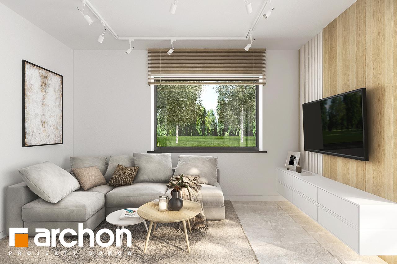 Проект будинку ARCHON+ Будинок в коручках денна зона (візуалізація 1 від 7)