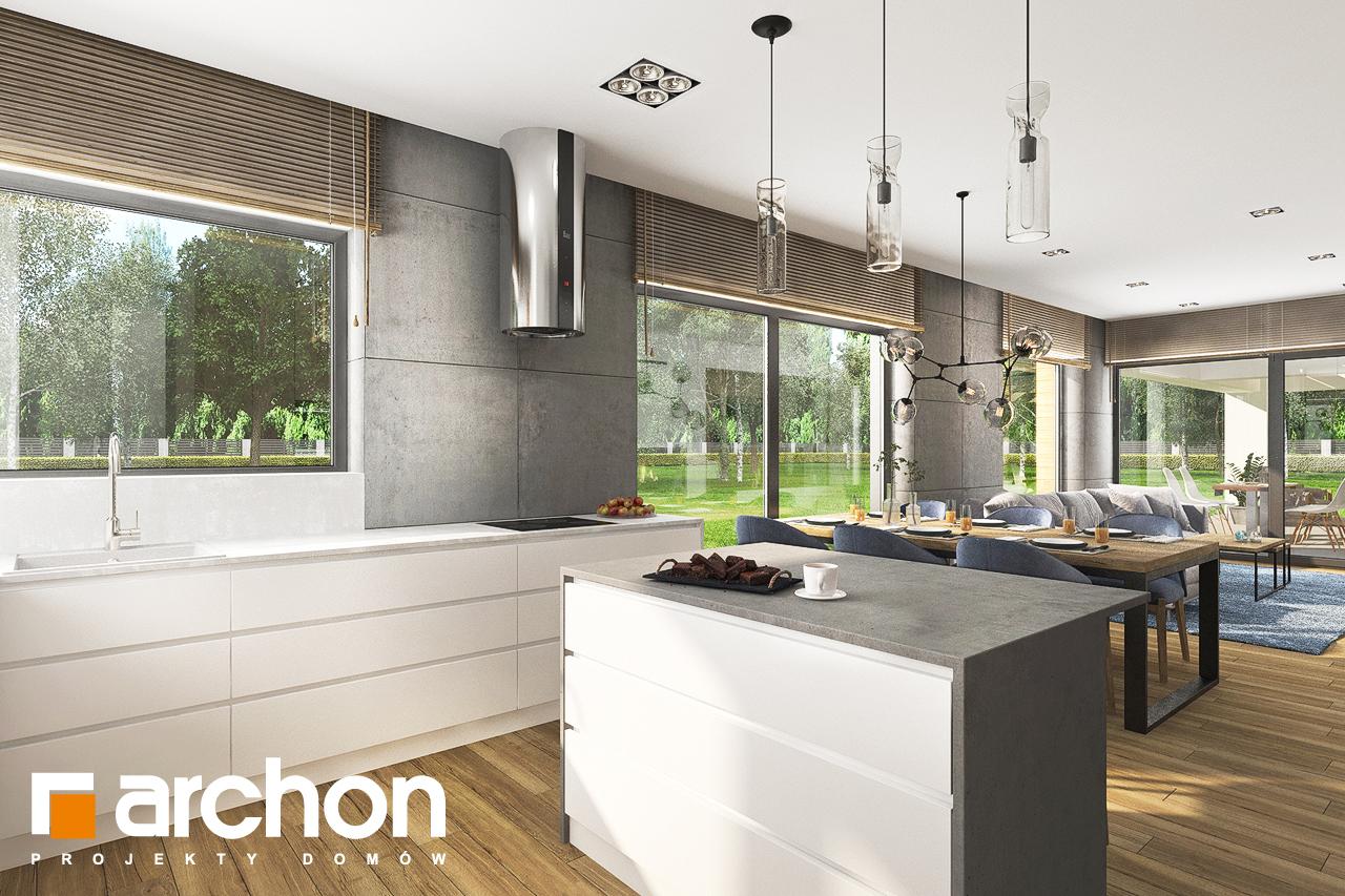 Проект будинку ARCHON+ Будинок в андромедах 6 (Г2) візуалізація кухні 1 від 2