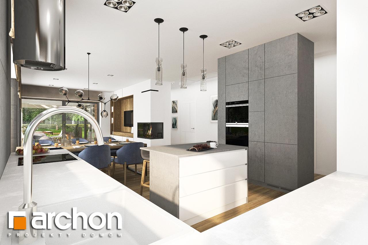 Проект будинку ARCHON+ Будинок в андромедах 6 (Г2) візуалізація кухні 1 від 3