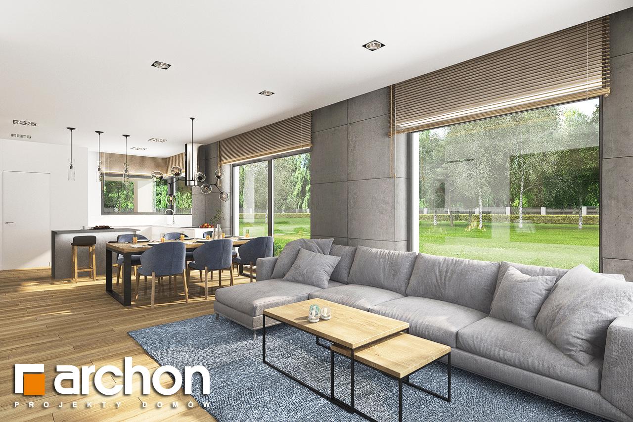 Проект будинку ARCHON+ Будинок в андромедах 6 (Г2) денна зона (візуалізація 1 від 5)