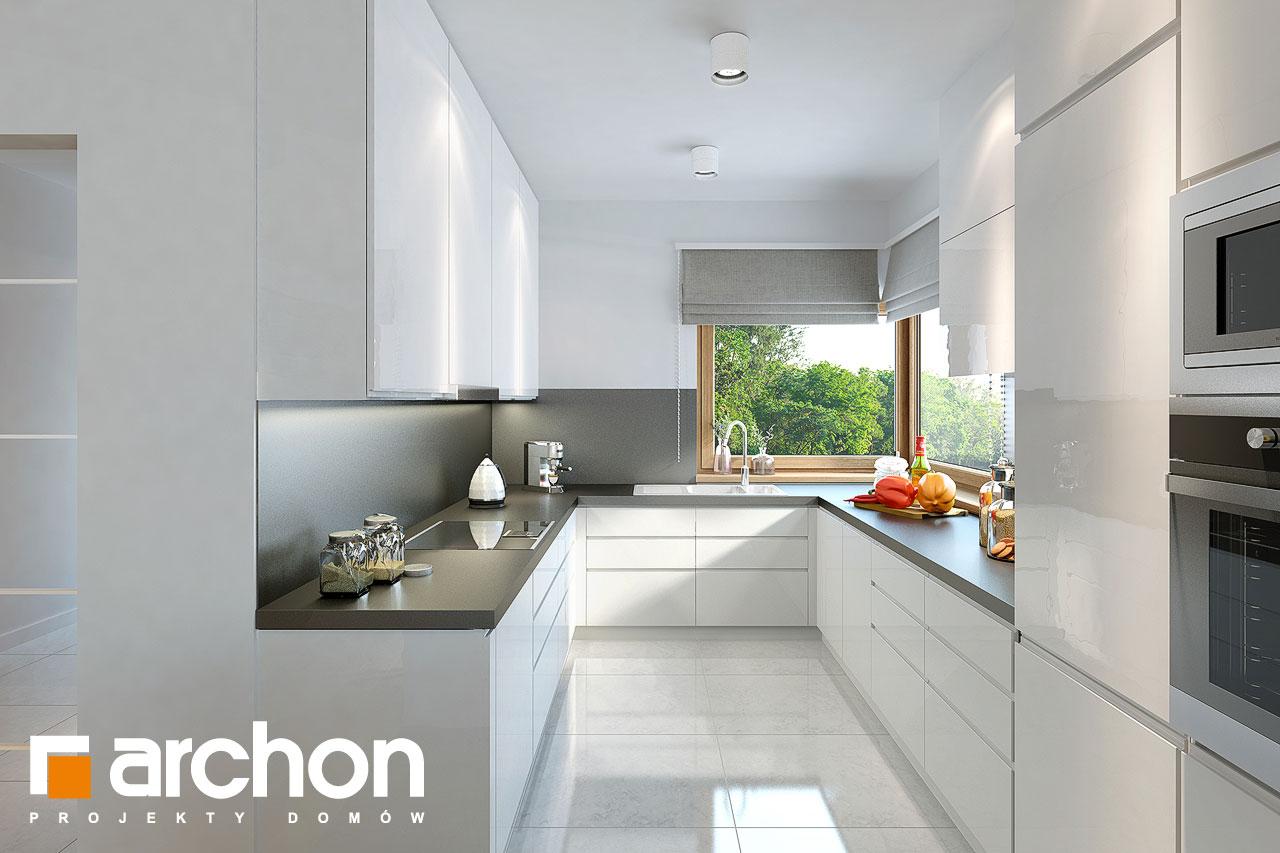 Проект дома ARCHON+ Дом в андромедах 2 (Г2) визуализация кухни 1 вид 1