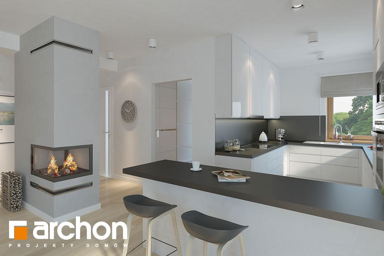 Проект дома ARCHON+ Дом в андромедах 2 (Г2) визуализация кухни 1 вид 2