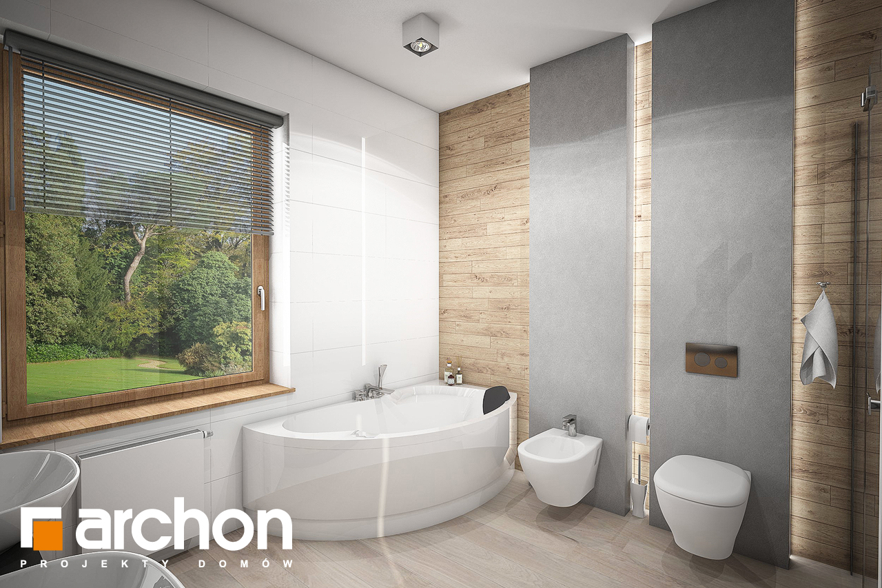 Проект будинку ARCHON+ Будинок в андромедах 2 (Г2) візуалізація ванни (візуалізація 3 від 2)
