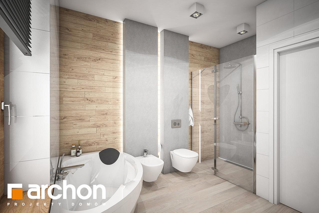 Проект дома ARCHON+ Дом в андромедах 2 (Г2) визуализация ванной (визуализация 3 вид 3)