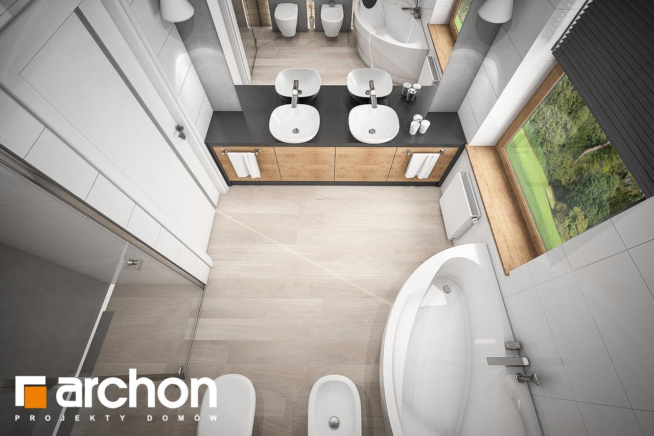 Проект дома ARCHON+ Дом в андромедах 2 (Г2) визуализация ванной (визуализация 3 вид 4)