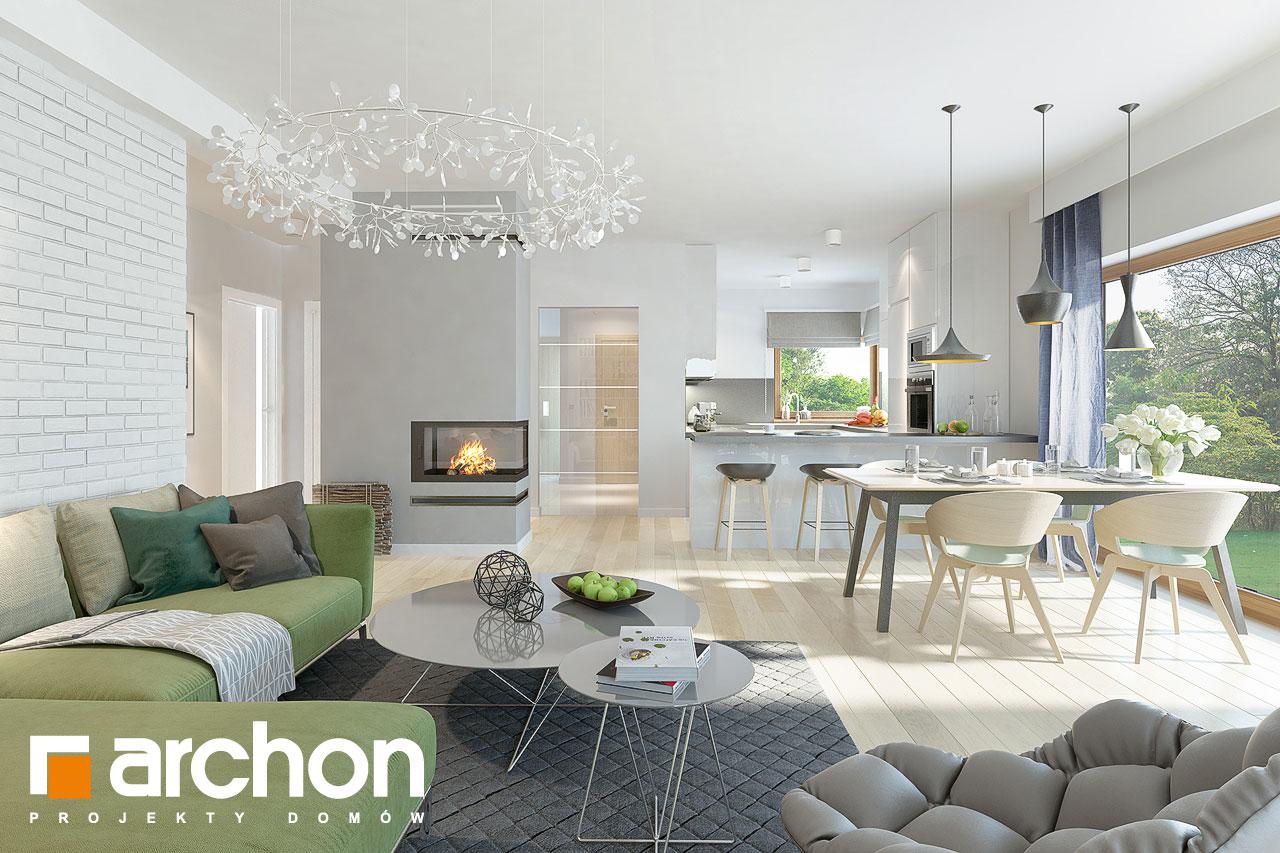 Проект дома ARCHON+ Дом в андромедах 2 (Г2) дневная зона (визуализация 1 вид 3)