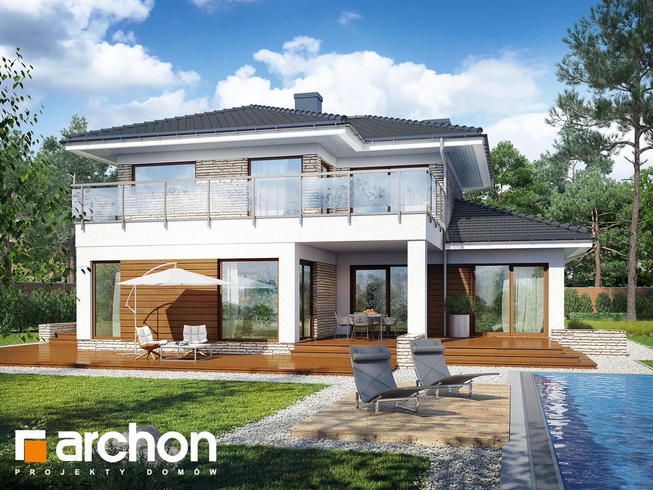 Проект дома ARCHON+ Вилла Эмилия Вид 2