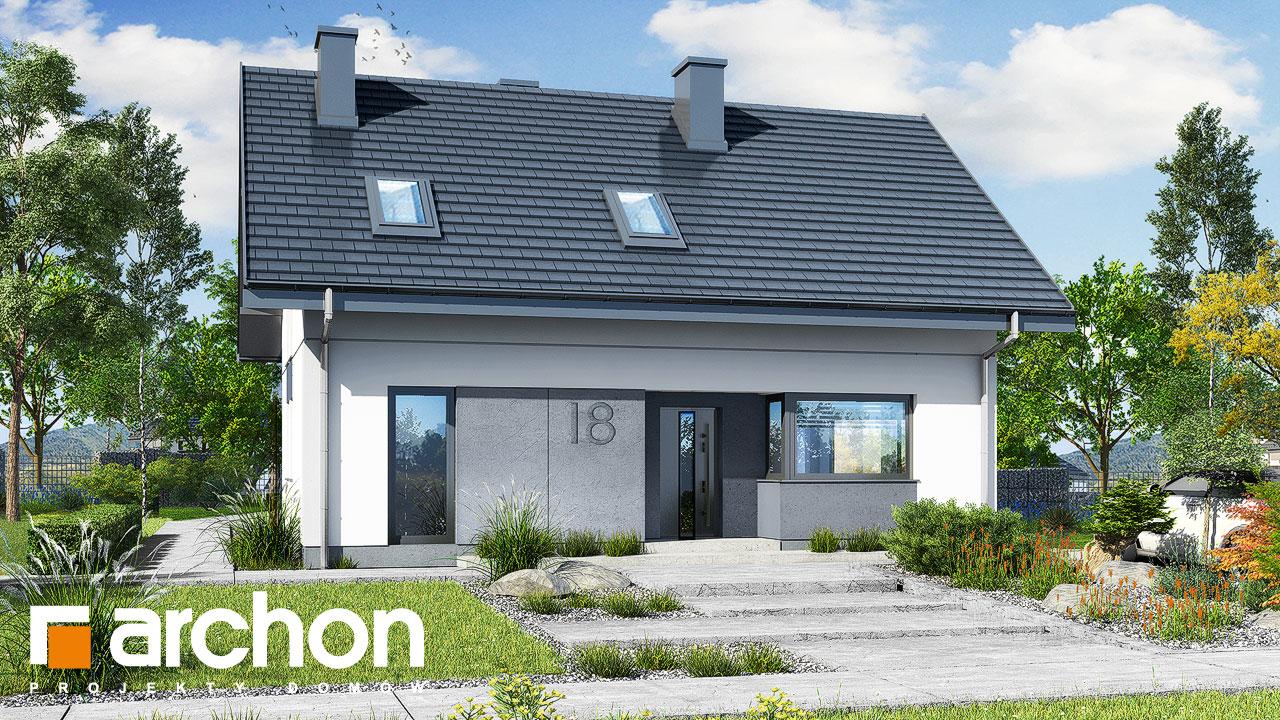Проект будинку ARCHON+ Будинок в рубелах додаткова візуалізація