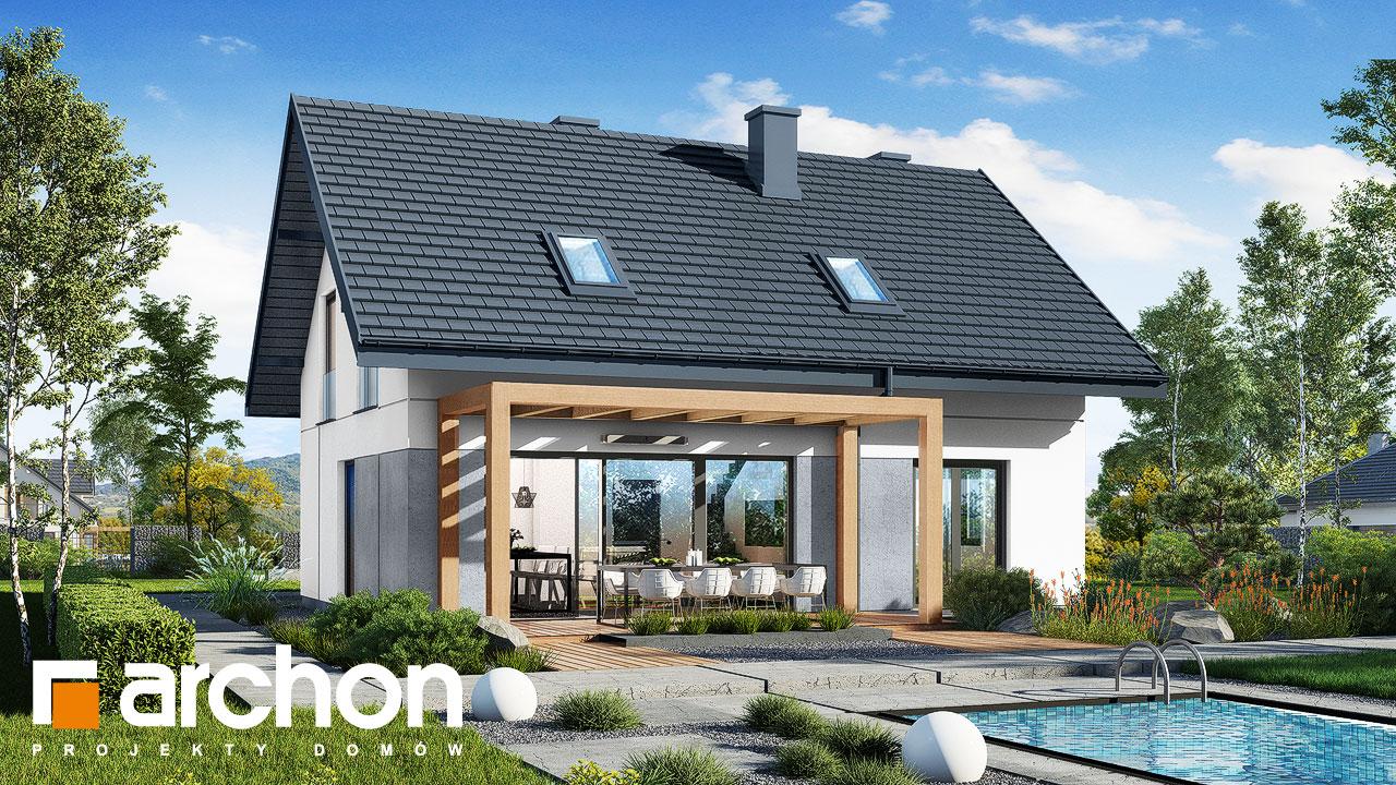 Проект будинку ARCHON+ Будинок в рубелах Вид 2
