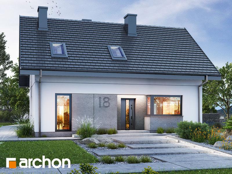 Проект будинку ARCHON+ Будинок в рубелах Вид 1