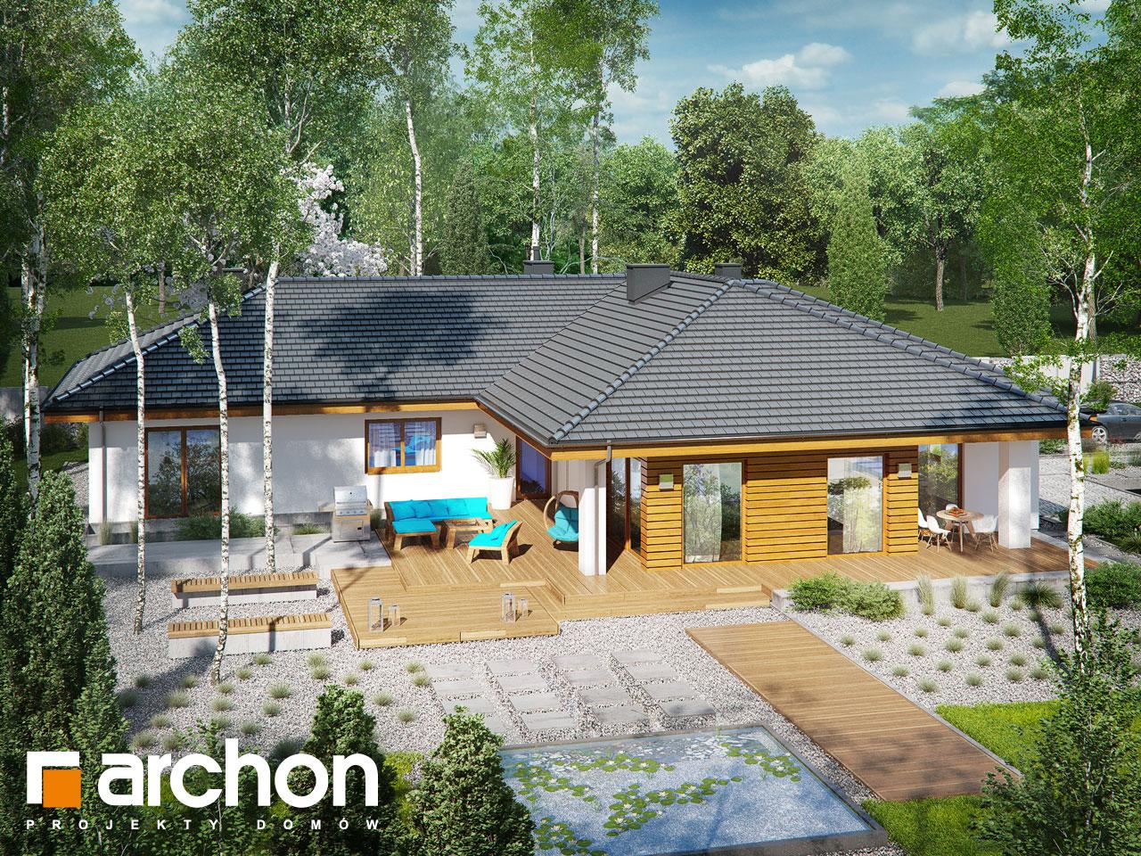 Проект будинку ARCHON+ Будинок в амарантах 6 (Г2) додаткова візуалізація
