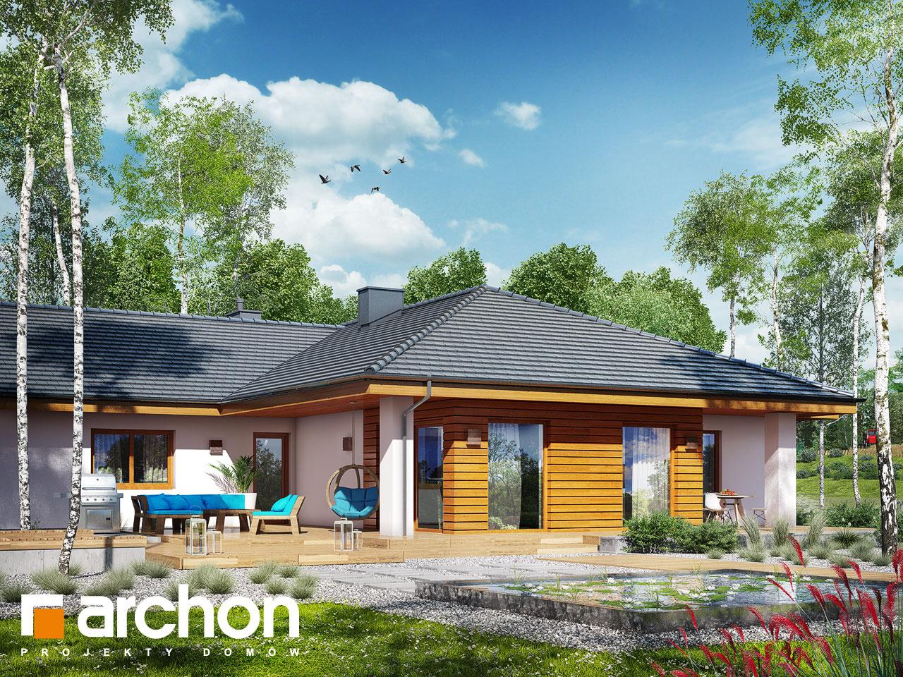 Проект будинку ARCHON+ Будинок в амарантах 6 (Г2) Вид 2