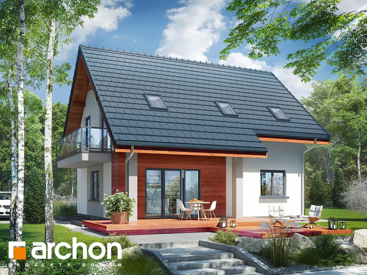 Проект будинку ARCHON+ Будинок в хлорофітумі 5 (П) Вид 2