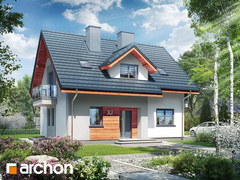 Проект будинку ARCHON+ Будинок в хлорофітумі 5 (П) Вид 1
