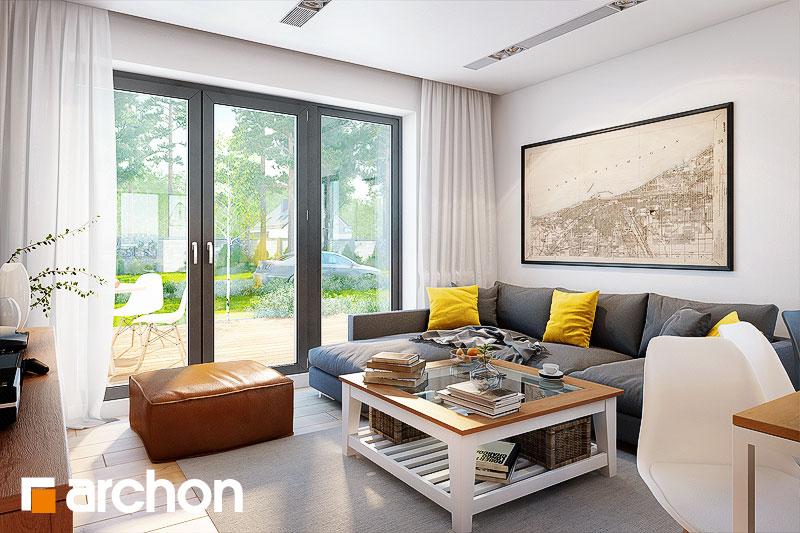 Проект будинку ARCHON+ Будинок в хлорофітумі 5 (П) денна зона (візуалізація 1 від 2)