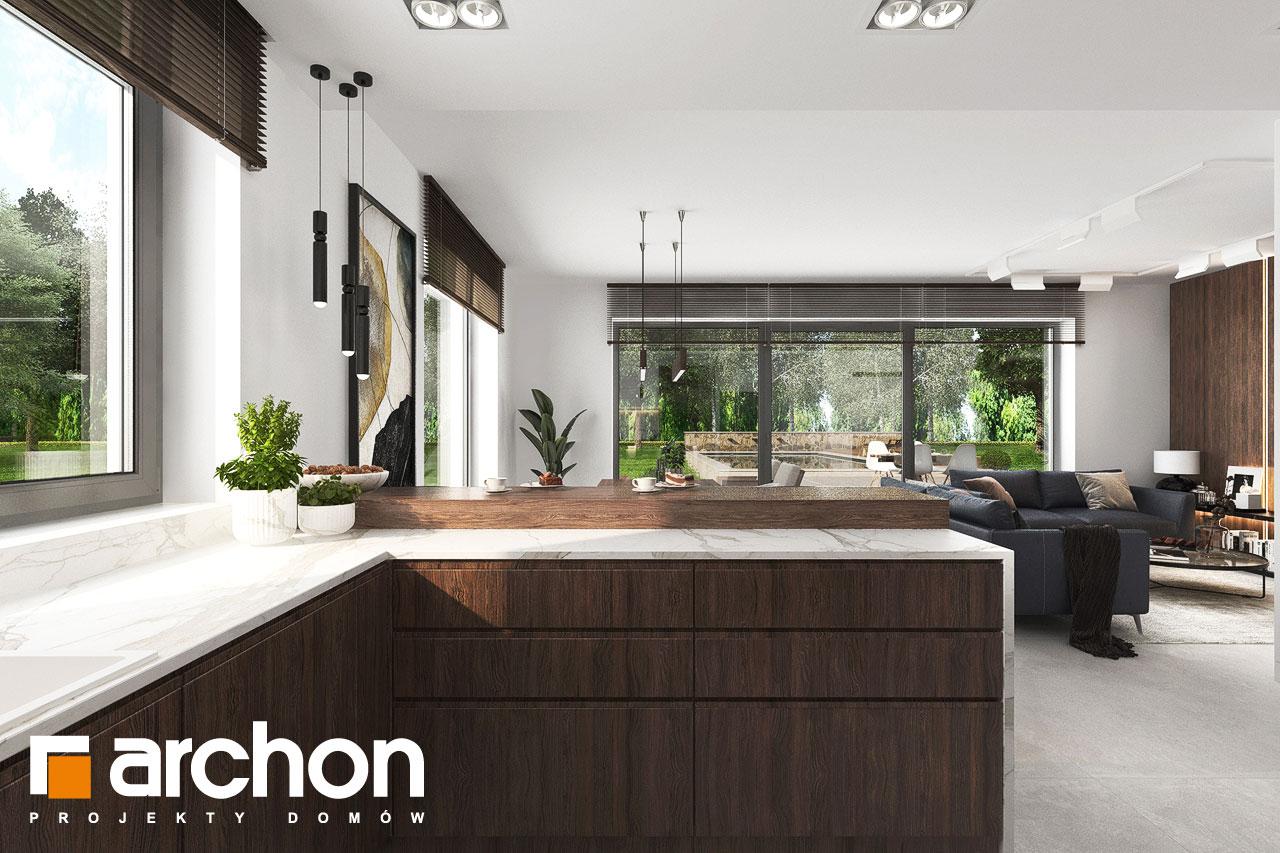Проект будинку ARCHON+ Вілла Юлія 16 візуалізація кухні 1 від 2