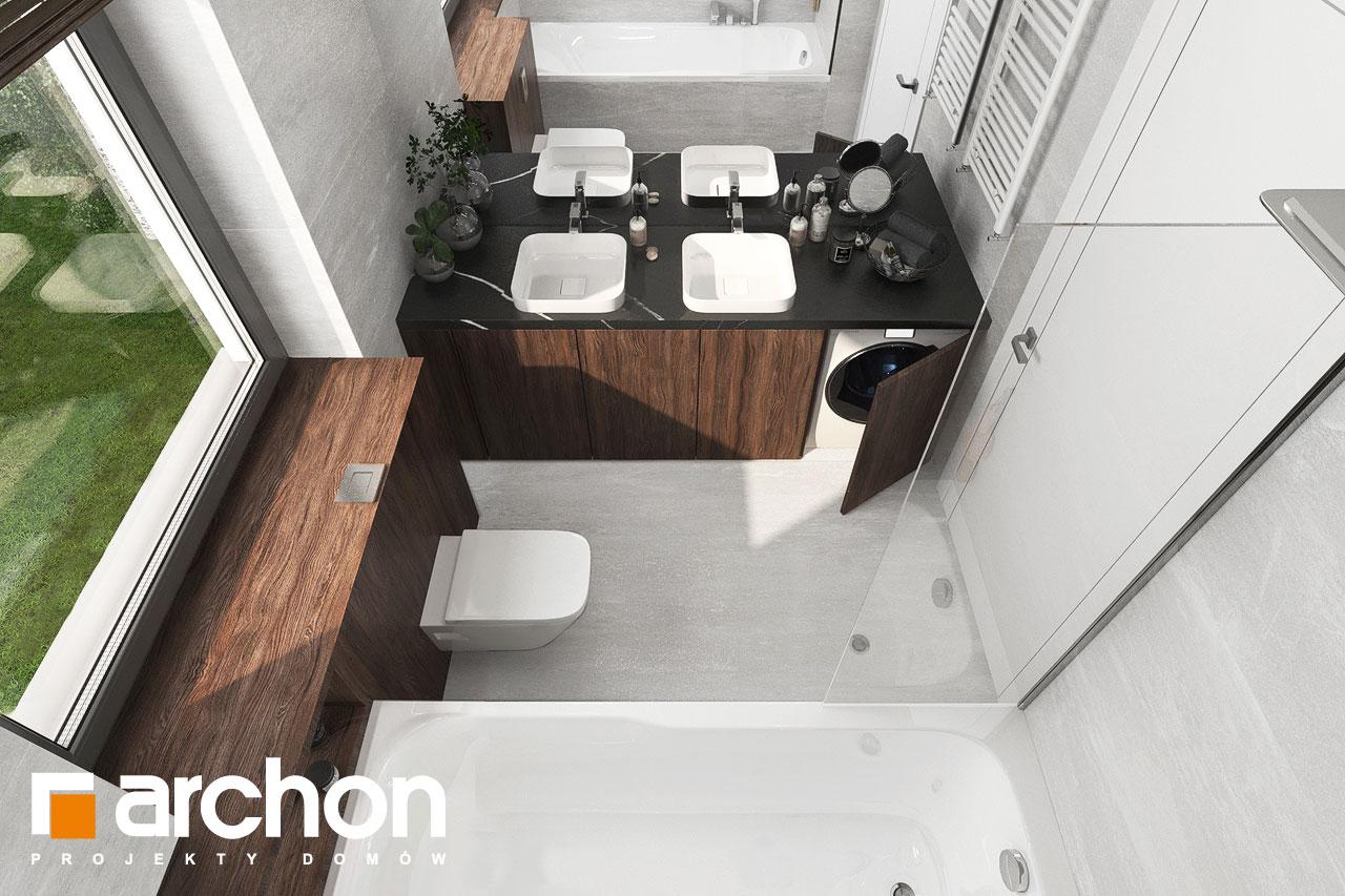 Проект будинку ARCHON+ Вілла Юлія 16 візуалізація ванни (візуалізація 3 від 4)