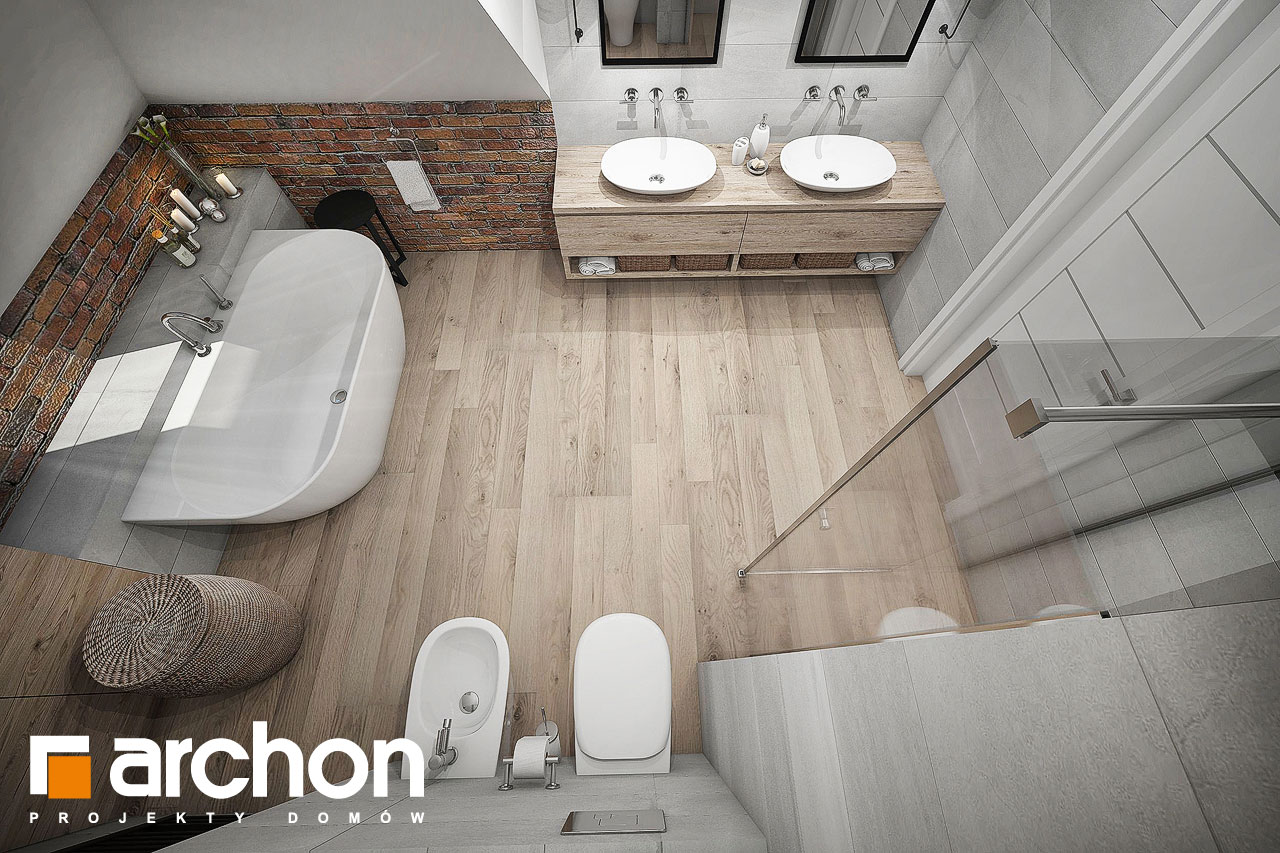 Проект будинку ARCHON+ Будинок в сливах (Г) візуалізація ванни (візуалізація 3 від 4)