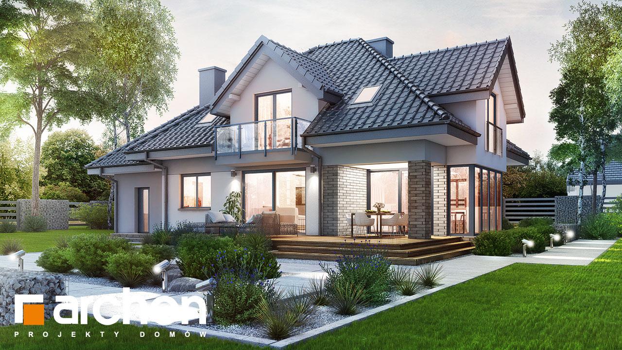 Проект будинку ARCHON+ Будинок в сливах (Г) Вид 2