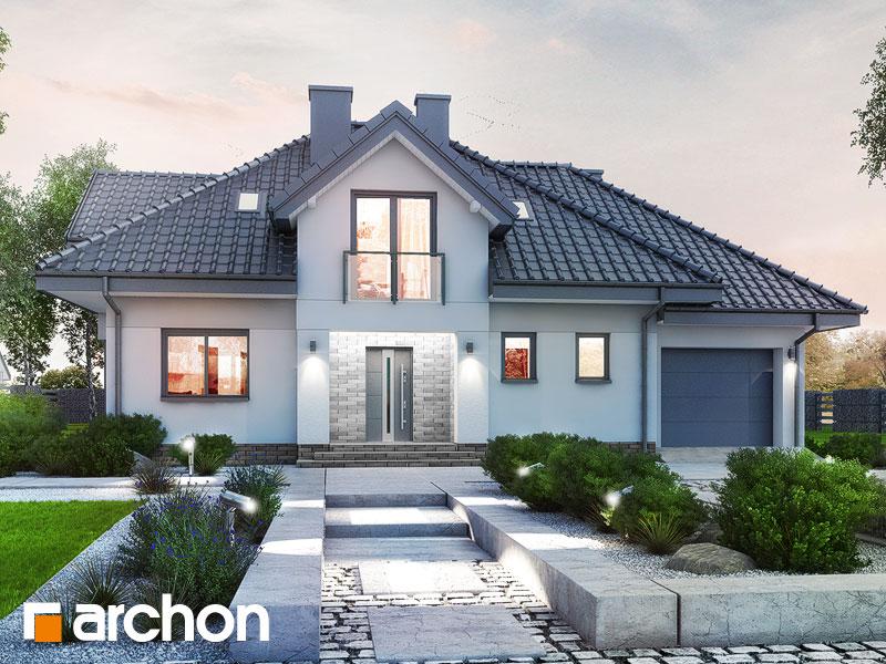 Проект будинку ARCHON+ Будинок в сливах (Г) Вид 1