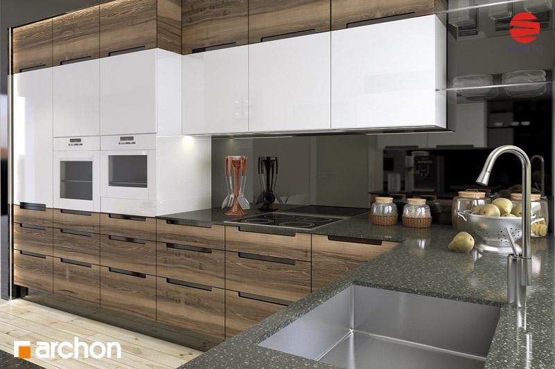 Проект будинку ARCHON+ Будинок в акебіях вер.2 аранжування кухні 1 від 3