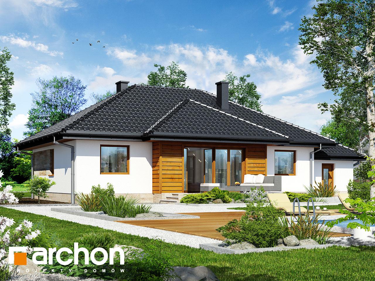 Проект будинку ARCHON+ Будинок в акебіях вер.2 Вид 2
