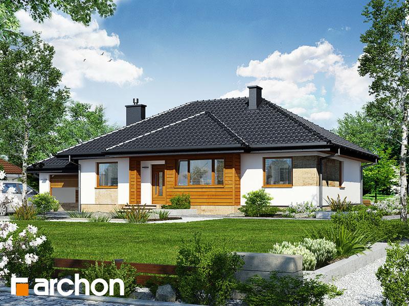 Проект будинку ARCHON+ Будинок в акебіях вер.2 Вид 1