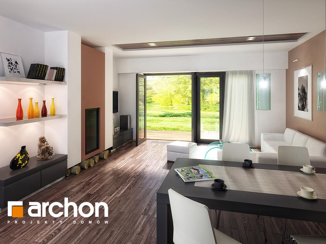 Проект будинку ARCHON+ Будинок в акебіях вер.2 денна зона (візуалізація 1 від 1)