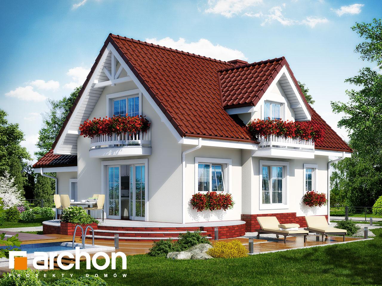 Проект будинку ARCHON+ Будинок в антонівці (Г) вер.2 Вид 2