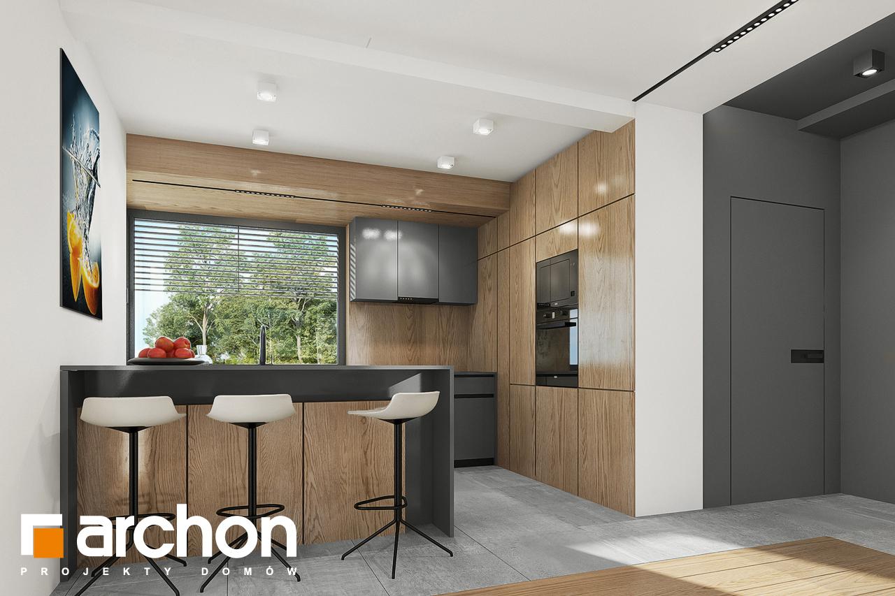Проект будинку ARCHON+ Будинок в брусниці 5 візуалізація кухні 1 від 1