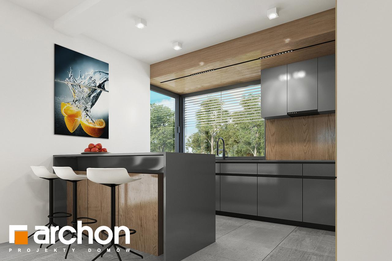 Проект будинку ARCHON+ Будинок в брусниці 5 візуалізація кухні 1 від 2