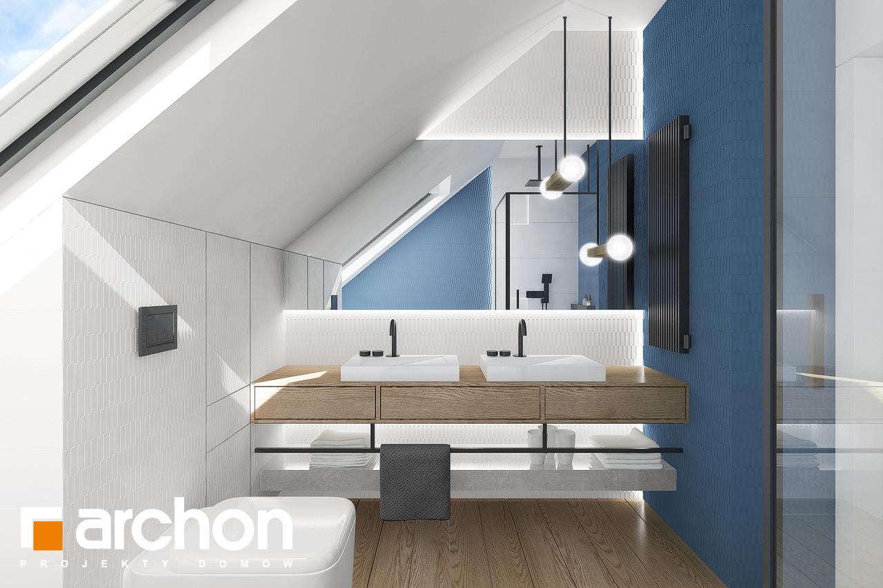 Проект будинку ARCHON+ Будинок в брусниці 5 візуалізація ванни (візуалізація 3 від 1)
