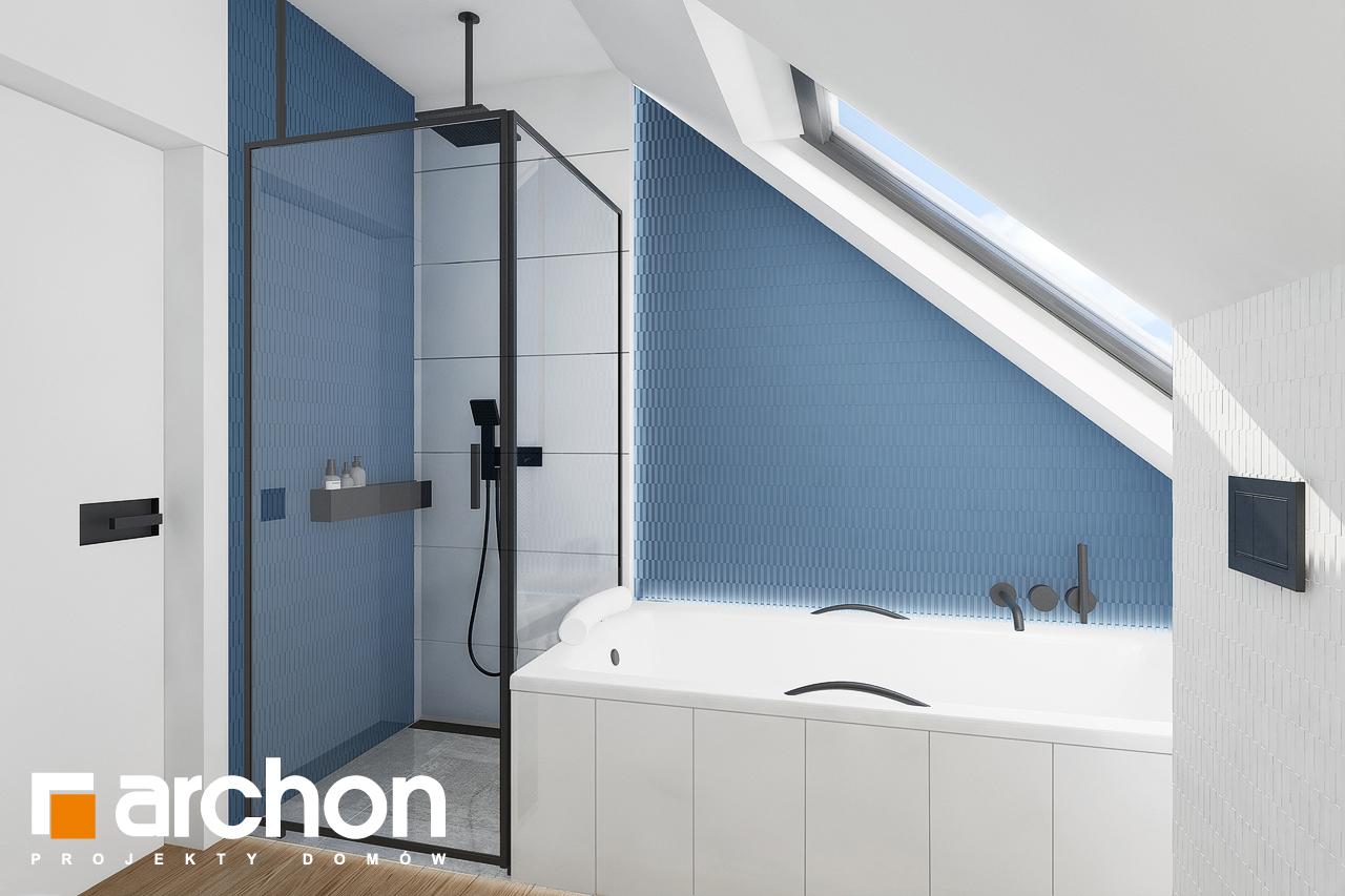 Проект будинку ARCHON+ Будинок в брусниці 5 візуалізація ванни (візуалізація 3 від 2)