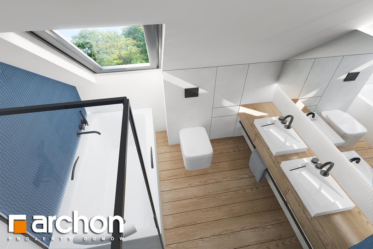 Проект будинку ARCHON+ Будинок в брусниці 5 візуалізація ванни (візуалізація 3 від 4)
