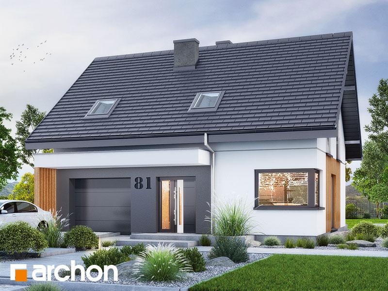 Проект будинку ARCHON+ Будинок в брусниці 5 Вид 1