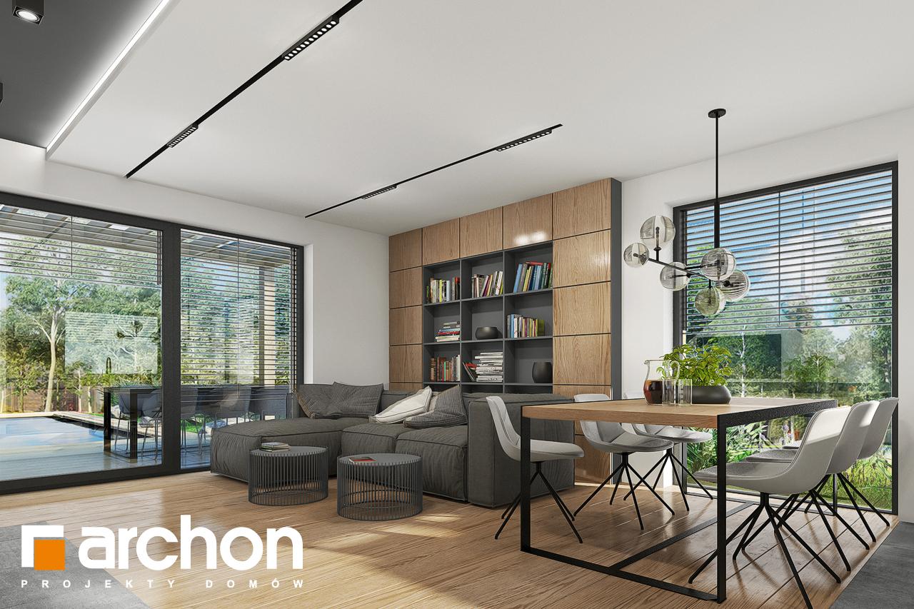 Проект будинку ARCHON+ Будинок в брусниці 5 денна зона (візуалізація 1 від 2)