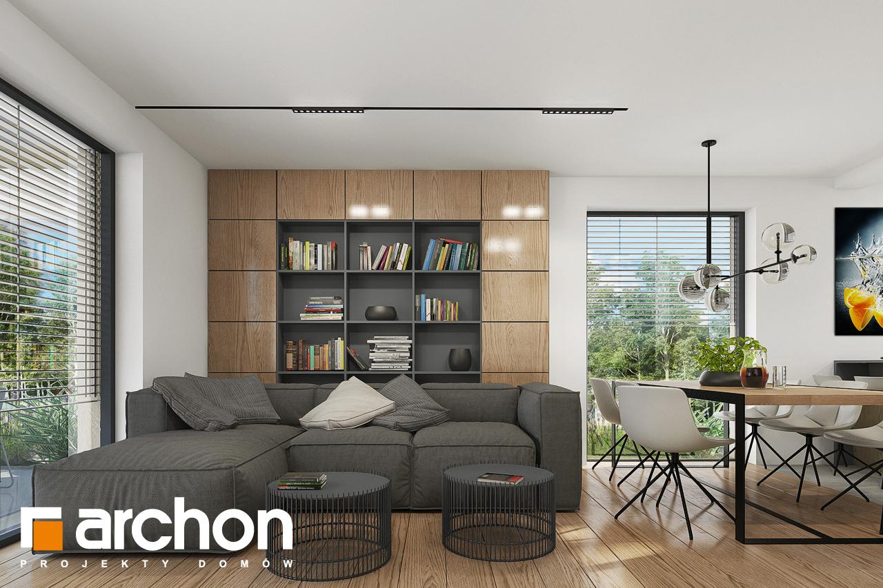 Проект будинку ARCHON+ Будинок в брусниці 5 денна зона (візуалізація 1 від 3)