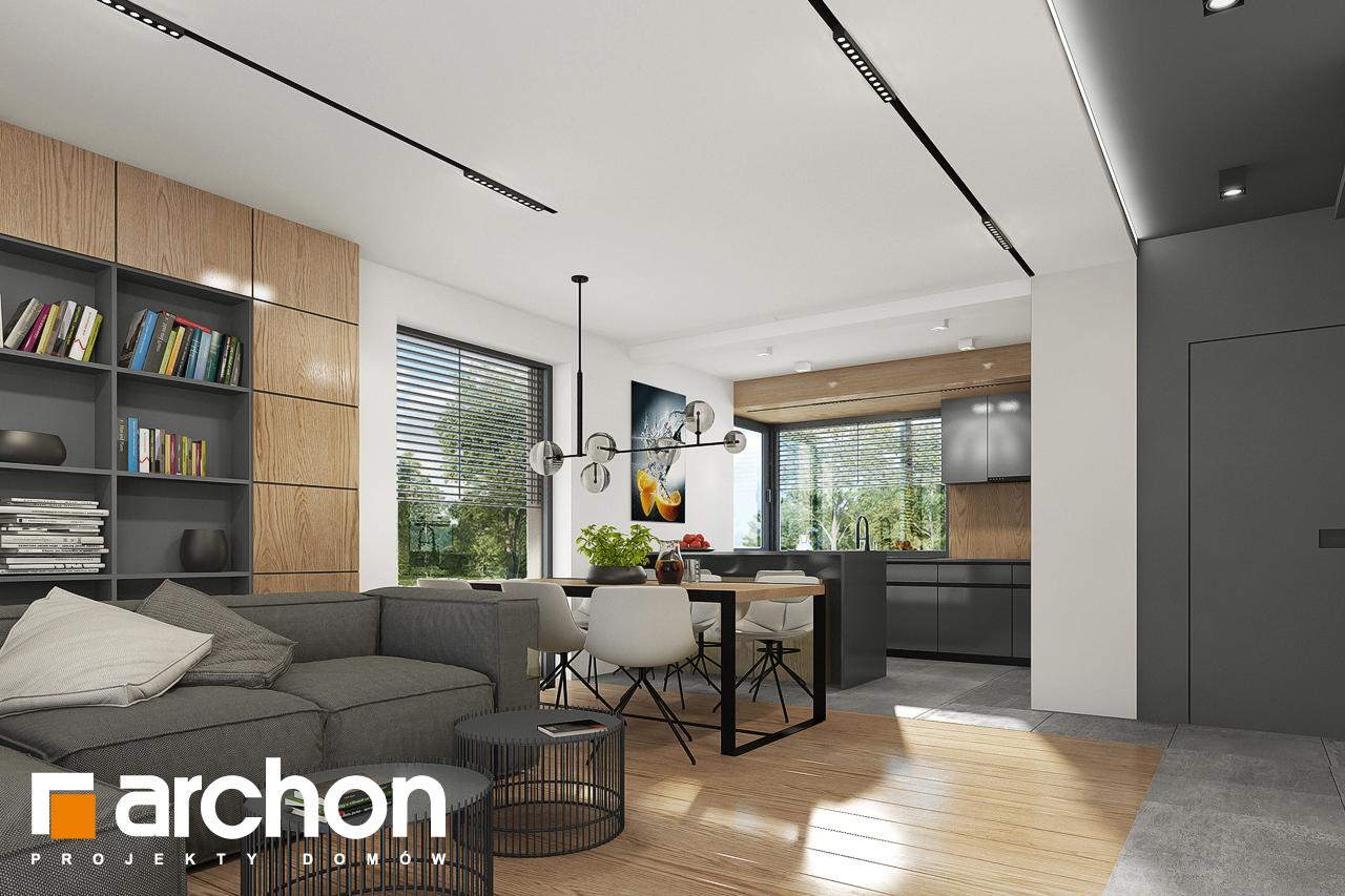 Проект будинку ARCHON+ Будинок в брусниці 5 денна зона (візуалізація 1 від 5)