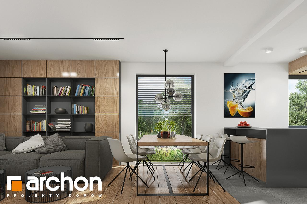 Проект будинку ARCHON+ Будинок в брусниці 5 денна зона (візуалізація 1 від 6)