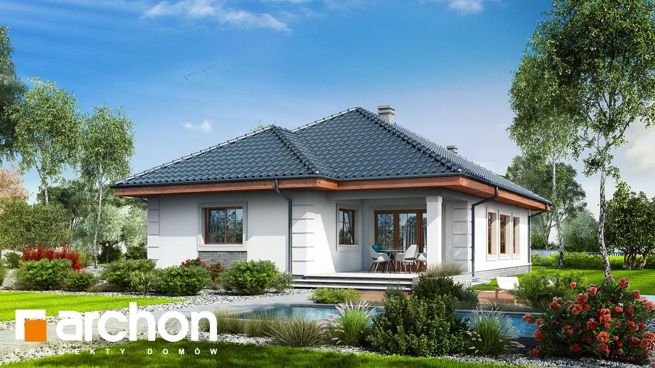 Проект будинку ARCHON+ Будинок в імбирі Вид 2