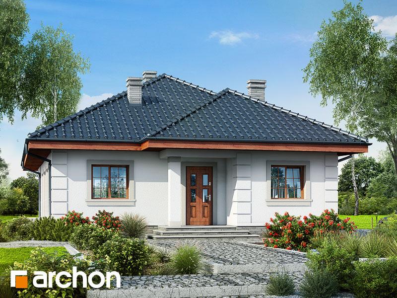 Проект будинку ARCHON+ Будинок в імбирі Вид 1